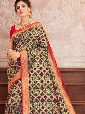 Multi Colour Silk Classic Designer Saree