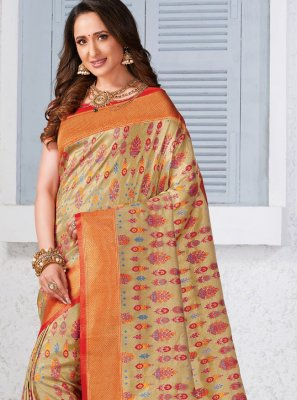 Multi Colour Silk Classic Saree
