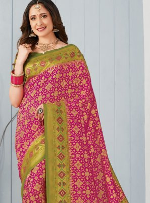 Multi Colour Silk Festival Classic Saree