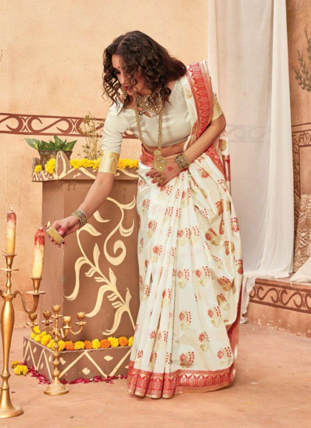 Multi Colour Silk Festival Traditional Saree