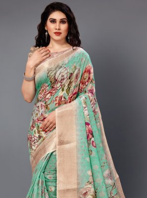 Multi Colour Silk Party Casual Saree