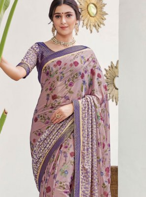 Multi Colour Silk Reception Silk Saree