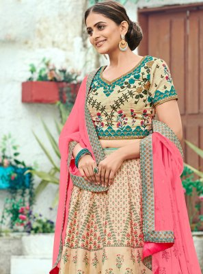 Multi Colour Silk Sangeet Trendy Lehenga Choli