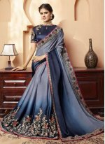 Multi Colour Silk Silk Saree