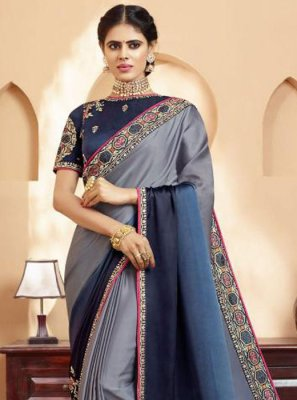 Multi Colour Silk Silk Saree
