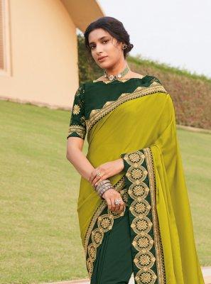 Multi Colour Silk Trendy Saree