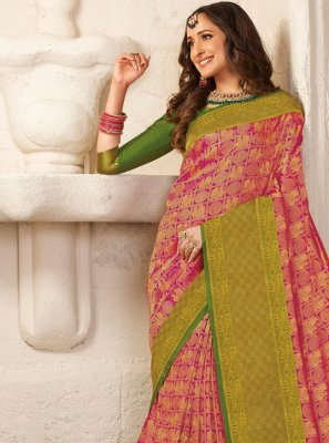 Multi Colour Silk Weaving Classic Saree