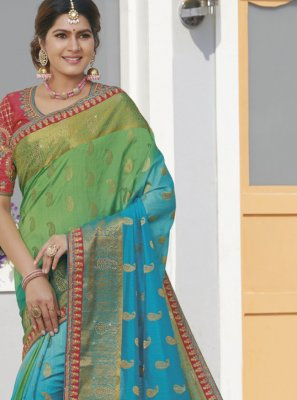 Multi Colour Silk Weaving Designer Saree