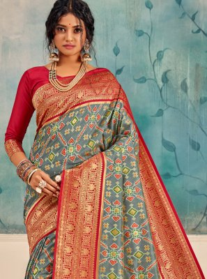 Multi Colour Silk Weaving Traditional Saree