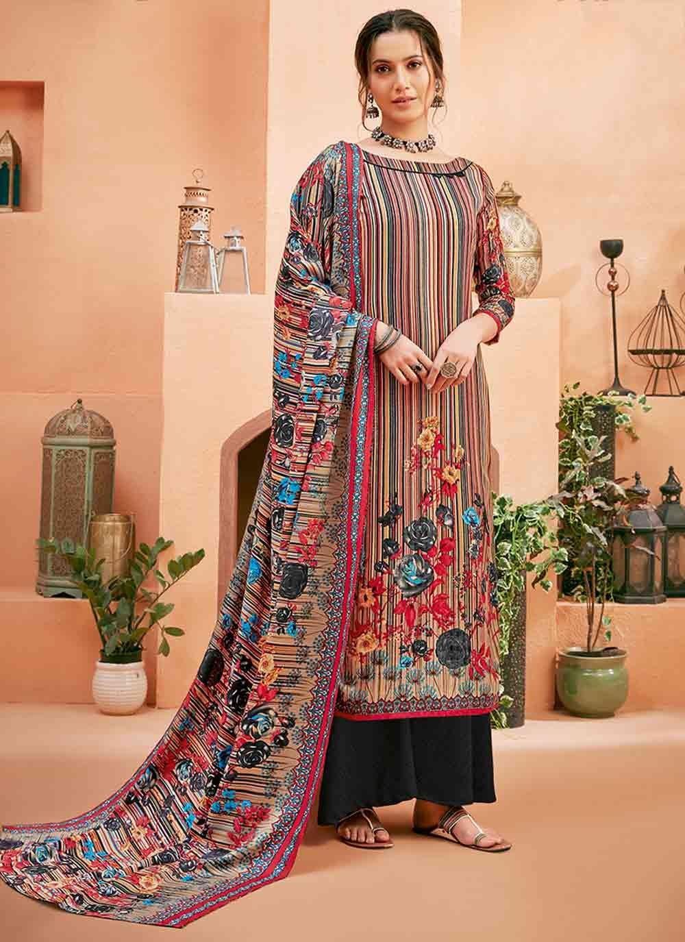 Multi Colour Trendy Salwar Suit