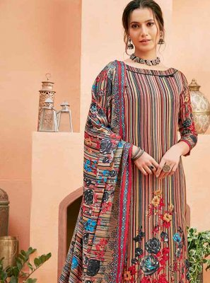 Multi Colour Trendy Salwar Suit