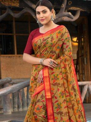 Multi Colour Weaving Casual Trendy Saree