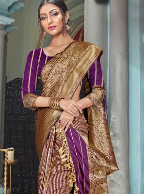 Multi Colour Weaving Classic Designer Saree