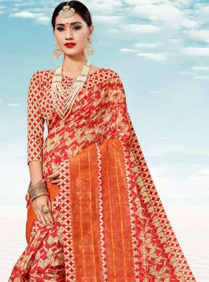 Multi Colour Weaving Classic Saree