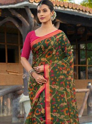 Multi Colour Weaving Classic Saree