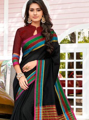 Multi Colour Weaving Cotton Designer Saree