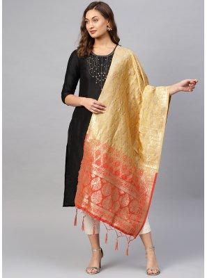 Multi Colour Weaving Mehndi Designer Dupatta