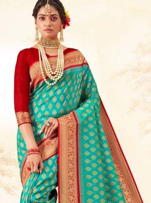 Multi Colour Weaving Silk Saree