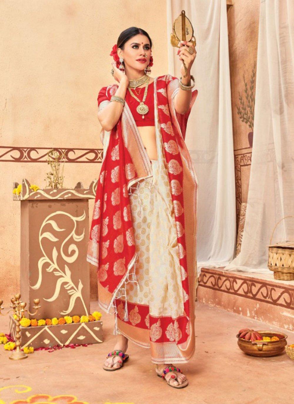 Multi Colour Weaving Traditional Designer Saree