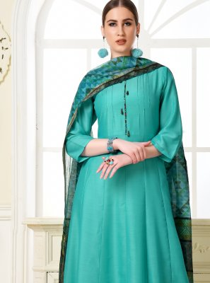 Muslin Blue Salwar Suit