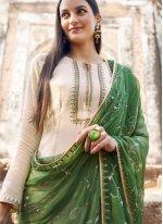 Muslin Embroidered Salwar Suit