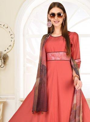 Muslin Print Pink Salwar Suit