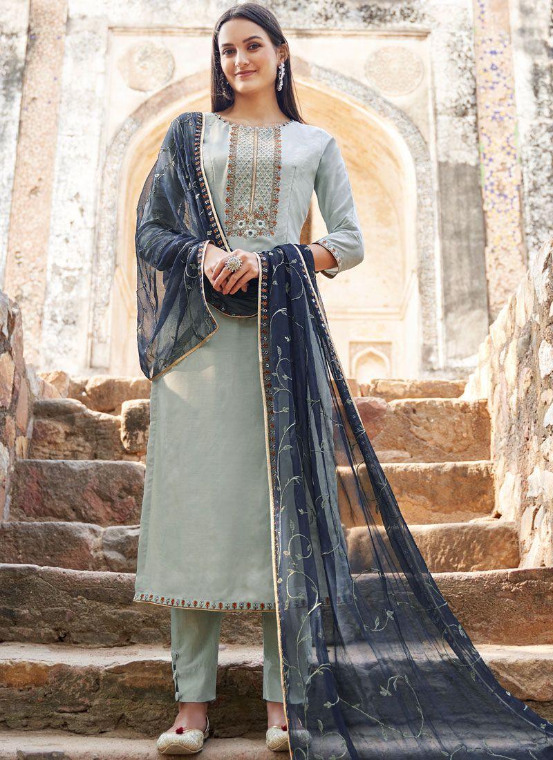 Muslin Reception Salwar Suit