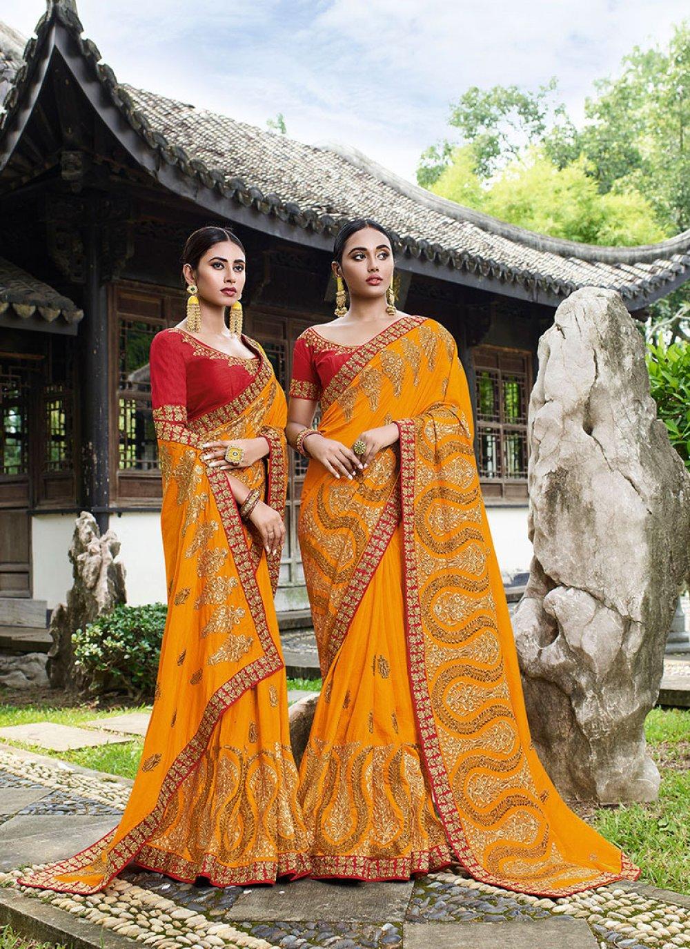 Mustard Art Silk Silk Saree