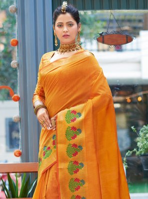 Mustard Casual Designer Bollywood Saree