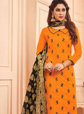 Mustard Ceremonial Designer Salwar Suit