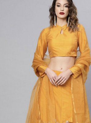 Mustard Ceremonial Readymade Lehenga Choli