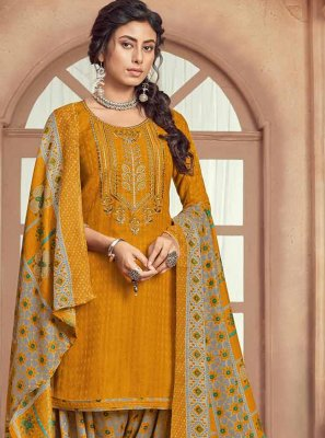 Mustard Color Patiala Suit