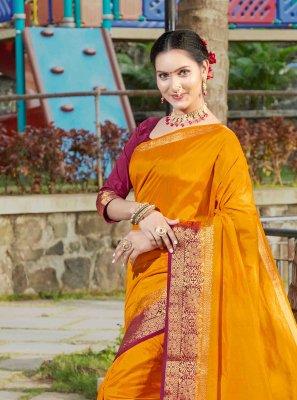 Mustard Color Silk Saree