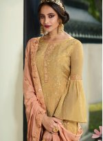 Mustard Color Trendy Palazzo Suit