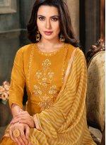 Mustard Cotton Trendy Salwar Suit