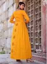 Mustard Designer Gown
