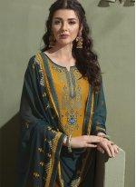 Mustard Designer Salwar Suit