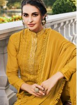 Mustard Mehndi Bollywood Salwar Kameez
