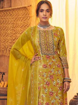 Mustard Party Viscose Salwar Kameez