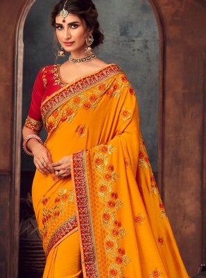 Mustard Traditional Saree