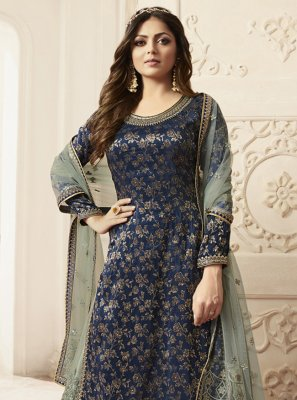 Navy Blue Color Designer Salwar Kameez