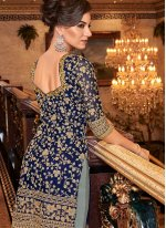 Navy Blue Color Designer Salwar Suit