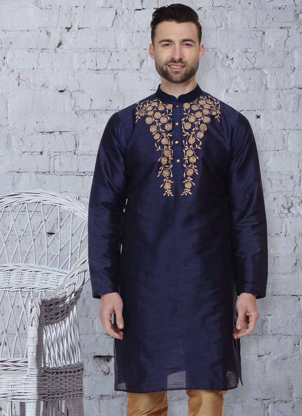 Navy Blue Color Kurta