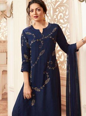 Navy Blue Color Palazzo Salwar Suit