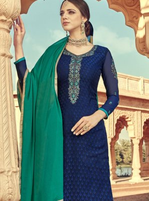 Navy Blue Color Salwar Suit