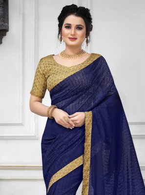 Navy Blue Color Trendy Saree
