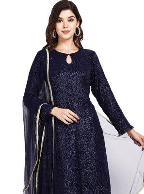 Navy Blue Festival Designer Pakistani Suit