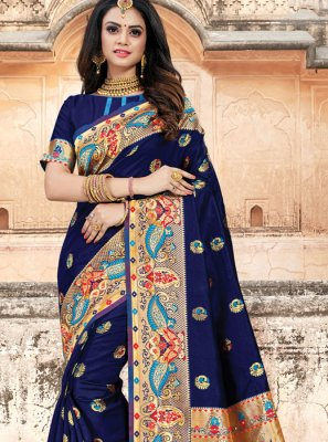 Navy Blue Party Classic Designer Saree