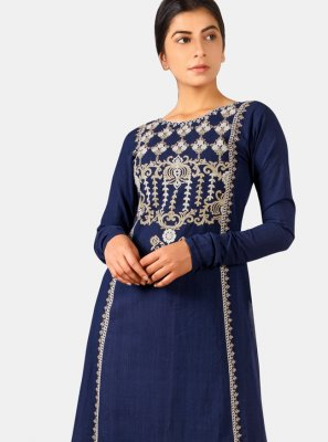 Navy Blue Party Designer Kurti