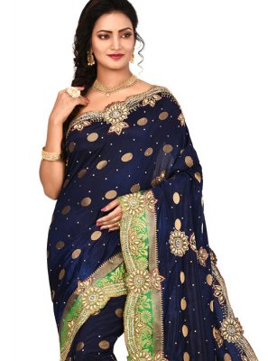 Navy Blue Party Designer Saree